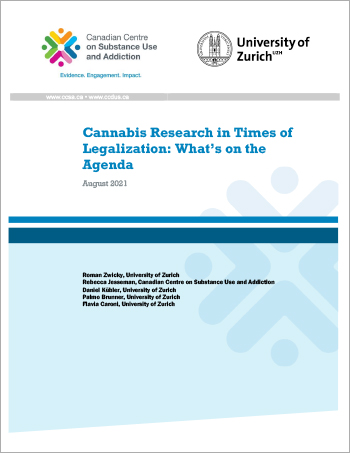 Cannabis Research in Times of Legalization: What's on the Agenda